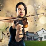 Geigenspielerin mit KHW im Hintergrund