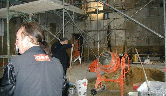 Umbauarbeiten im Ludwig Streicher-Saal