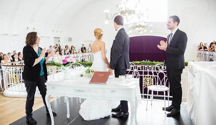 Hochzeitspaar Wunsch auf der Galerie